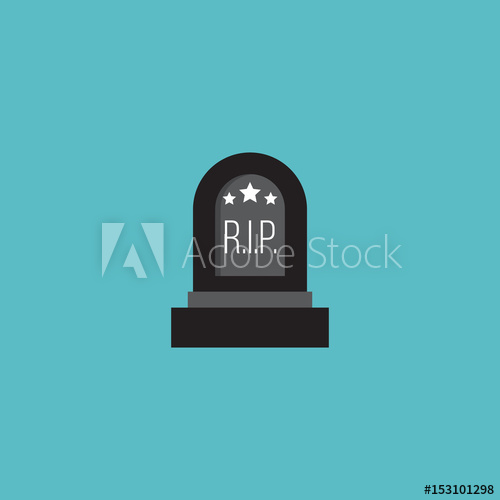500x500 Flat Grave Element. Vector Illustration Of Flat Tomb Isolated On