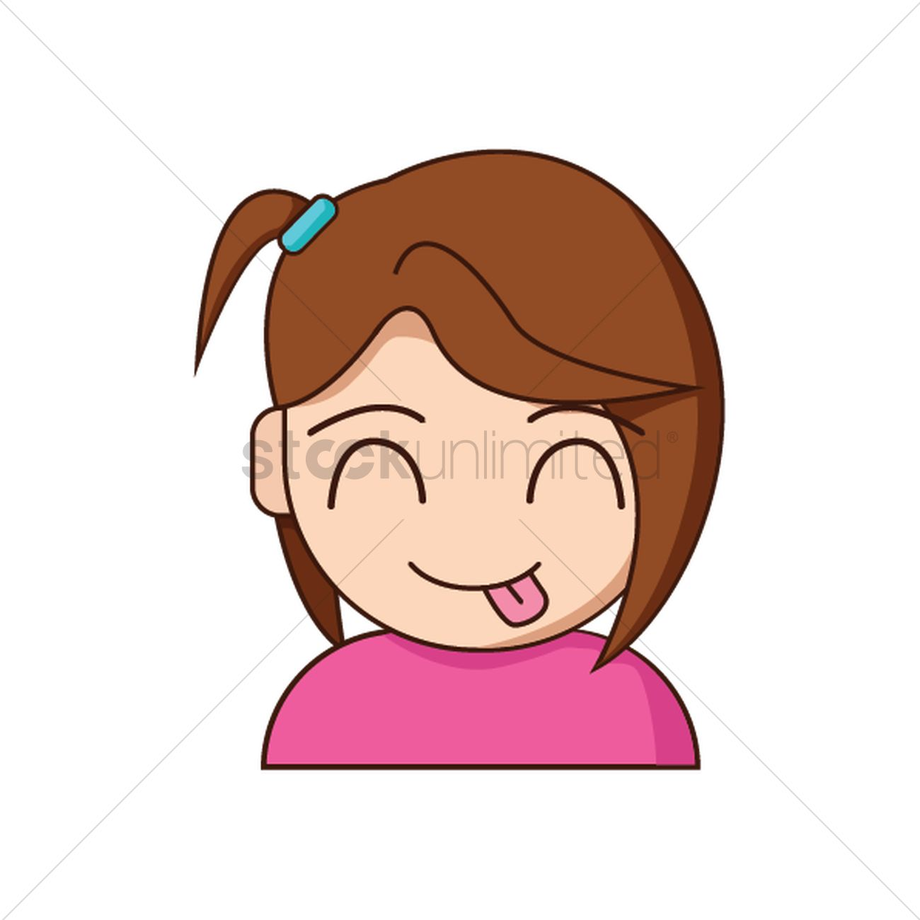 1300x1300 Girl Sticking Out Tongue Vector Image