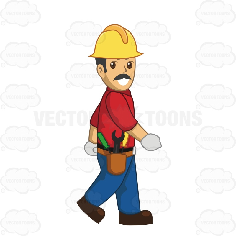 800x800 Male Construction Worker Walking While Wearing A Tool Belt