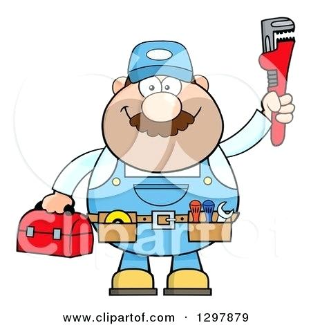 450x470 Monkey With A Tool Belt Of A Car White Male Plumber Wearing A Tool