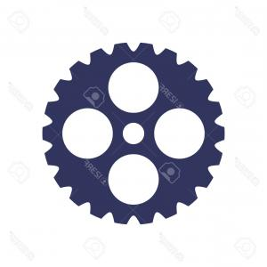 300x300 Photostock Vector Silhouette Of Gear Wheel And Repair Tools Icon