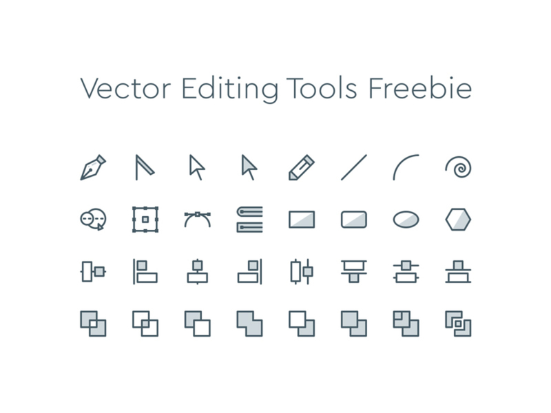 800x600 Vector Editing Tools Icons ~ Epicpxls