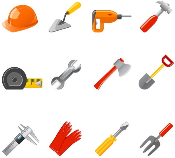 599x542 Common Tool Icon Vector Free Vector In Adobe Illustrator Ai ( .ai