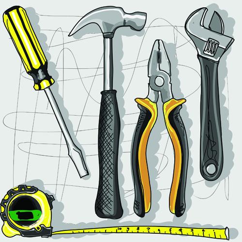 500x500 Set Of Different Repair Tools Vector Graphics 01 Free Download