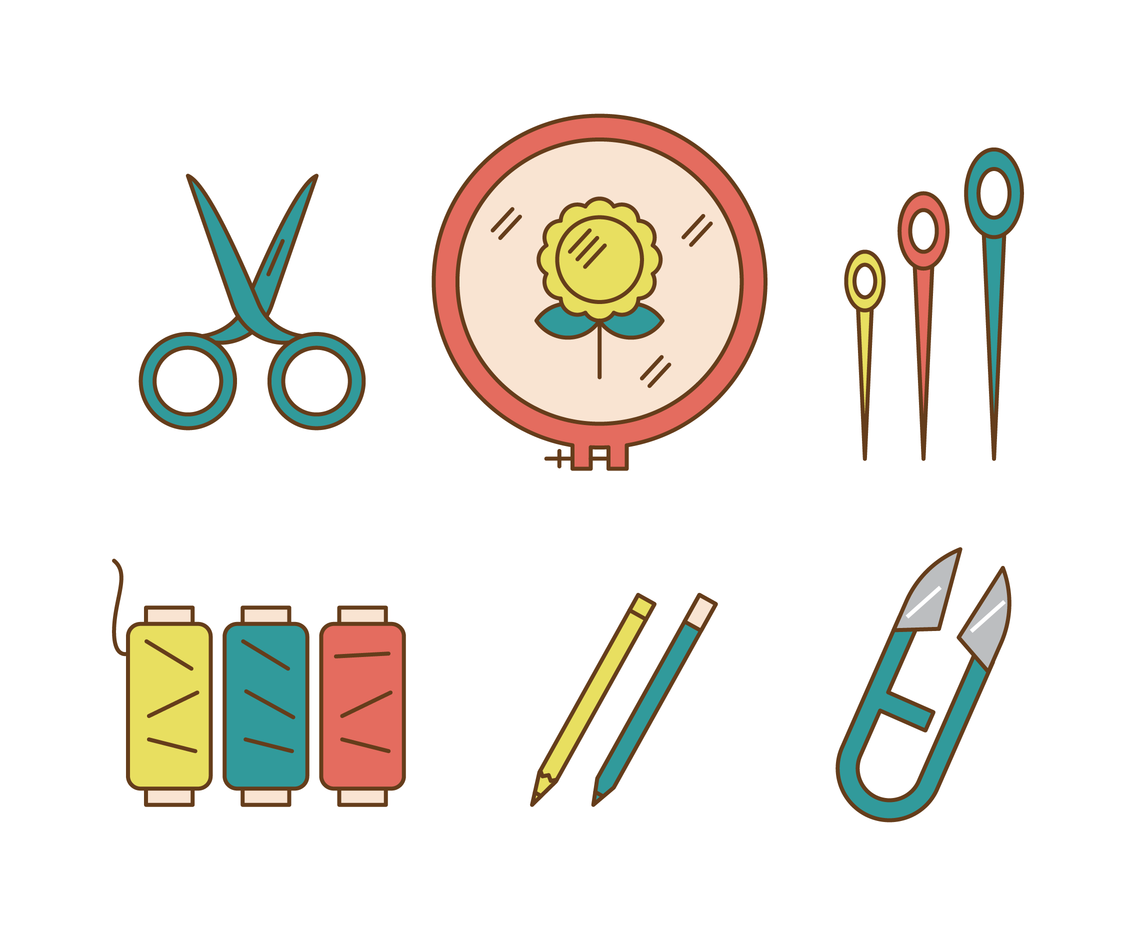 1136x936 Embroidery Tools Vector Vector Art Amp Graphics