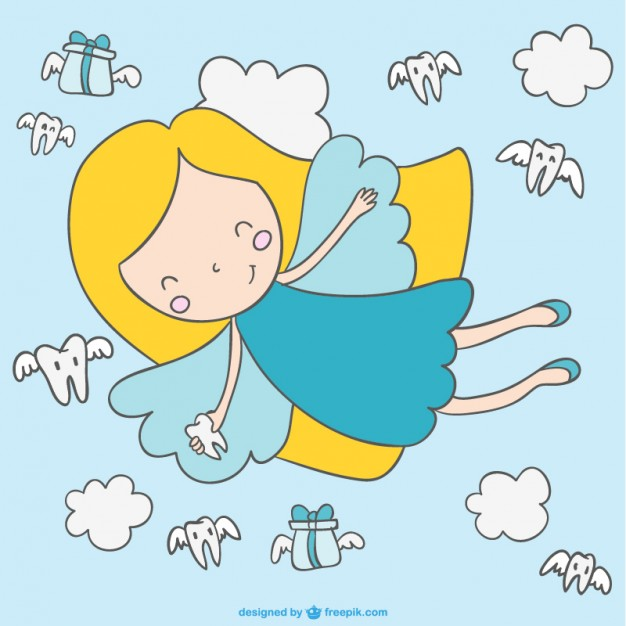 626x626 Flying Tooth Fairy Vector Free Download