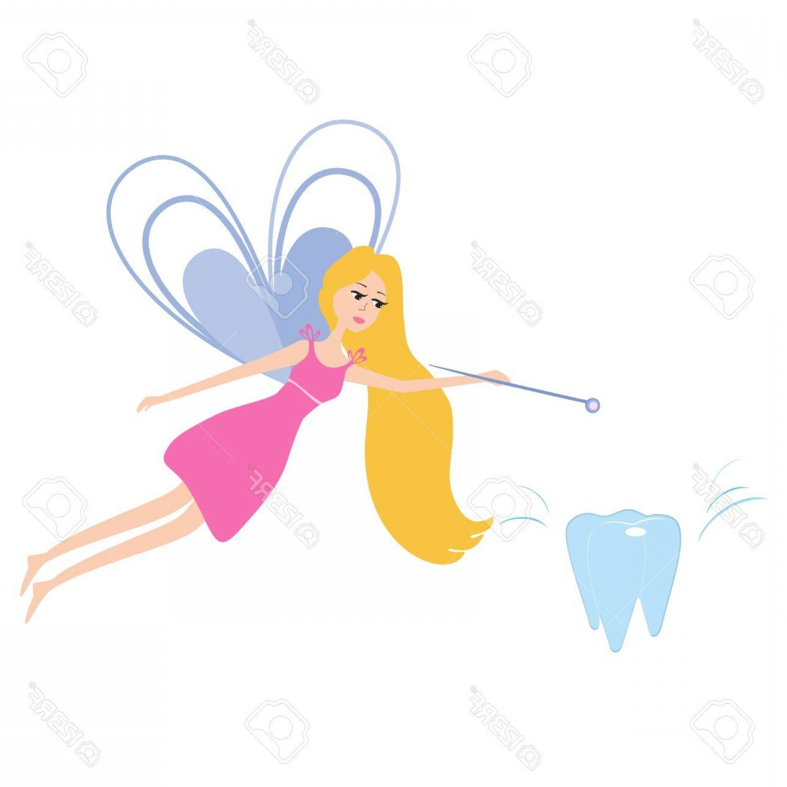 1560x1560 Photostock Vector Illustration Of A Pretty Tooth Fairy With A