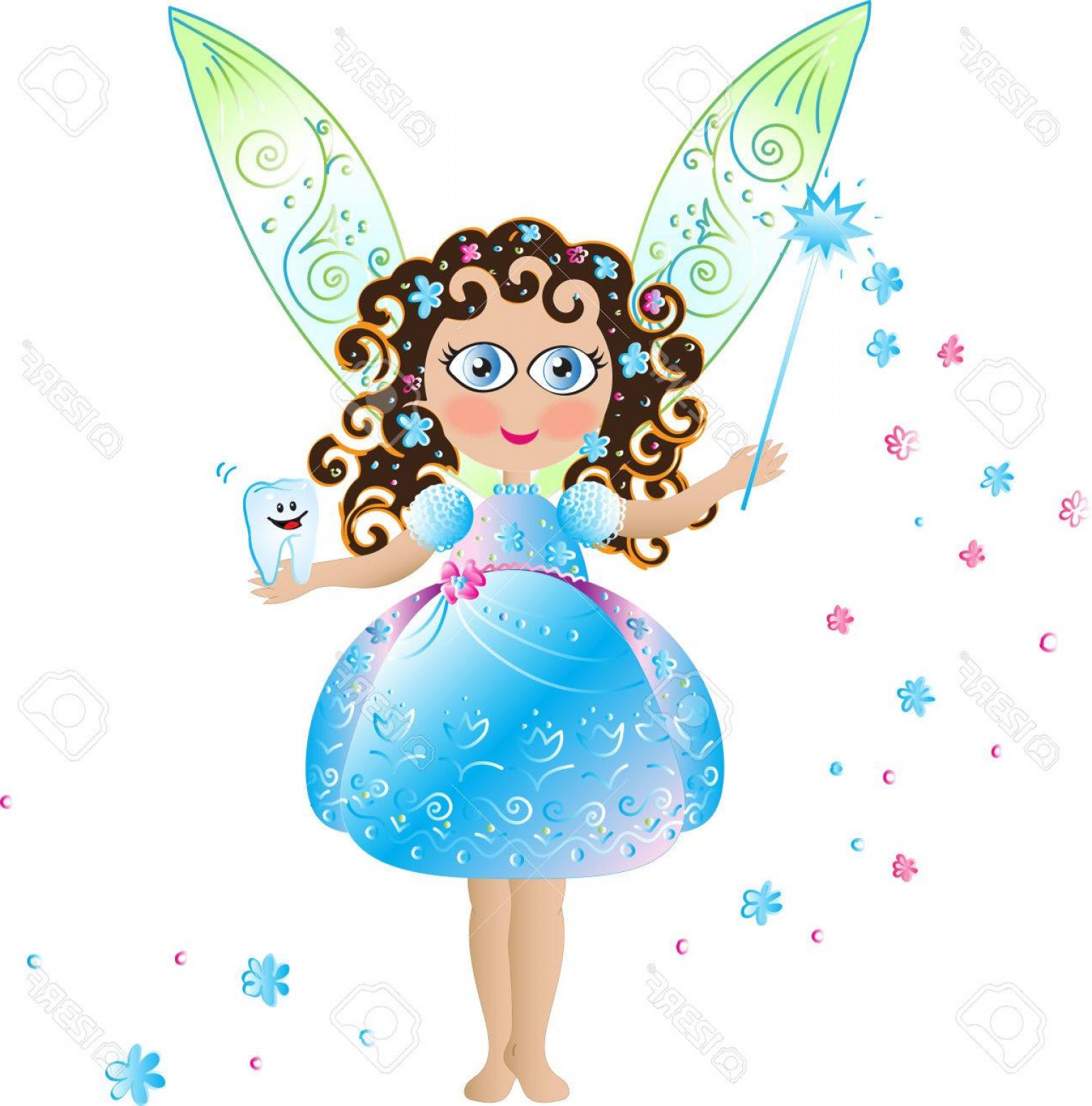 1540x1560 Photostock Vector Tooth Fairy With Wings Arenawp
