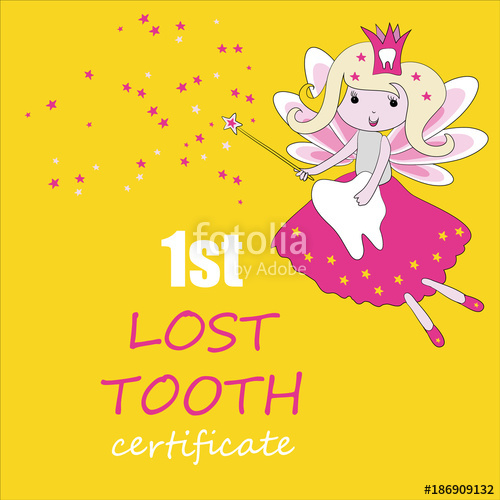 500x500 Tooth Fairy With Magic Stick And Stars. Vector Illustration On