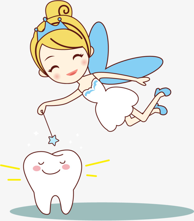 650x741 Vector Painted Small Tooth Fairy, Vector, Hand Painted, Little