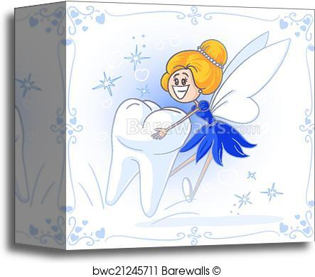 443x390 Canvas Print Of Tooth Fairy Vector Cartoon Barewalls Posters