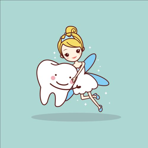 500x500 Cartoon Tooth Fairy Vector Material 01 Free Download