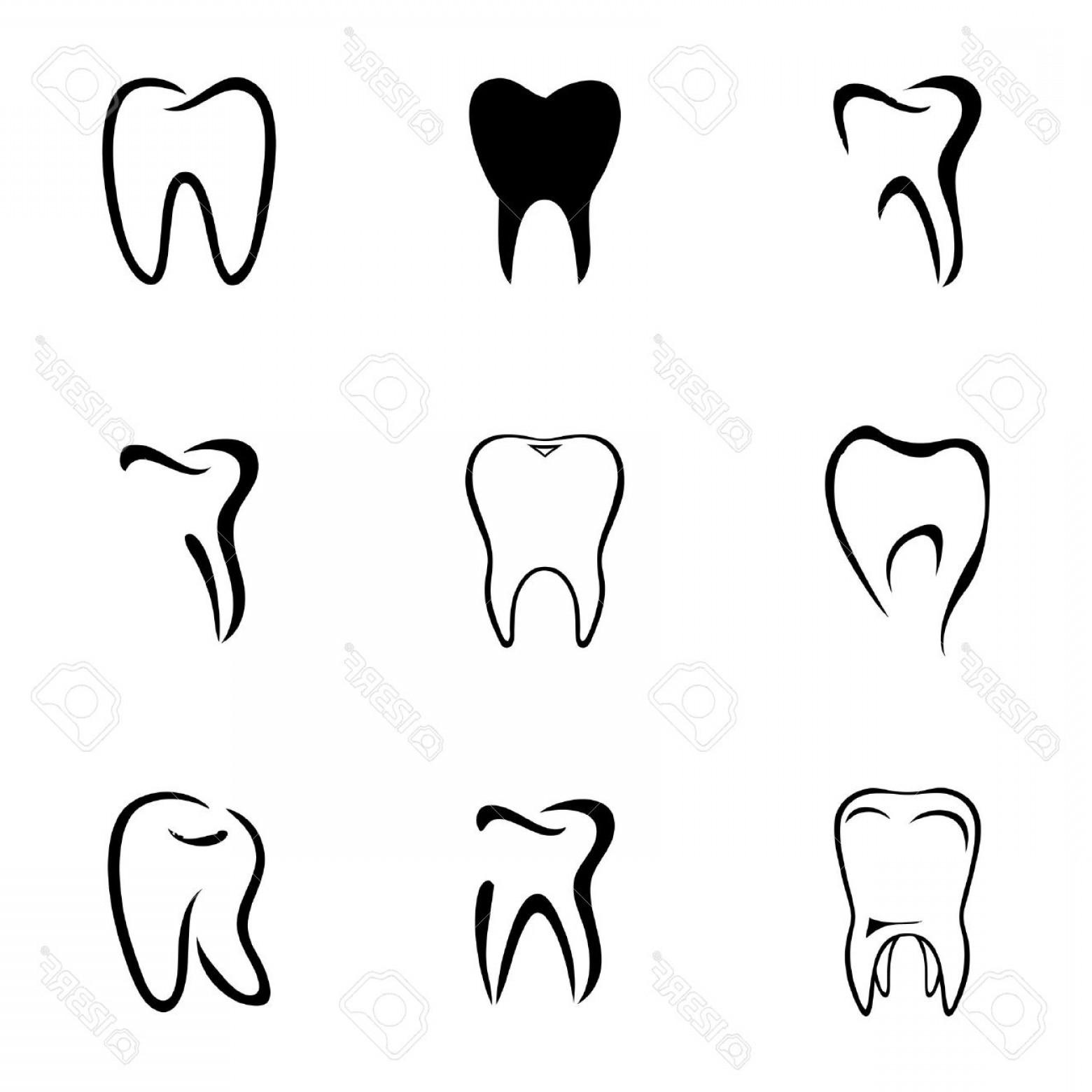 1560x1560 Photostock Vector Teeth Icon Set On White Background Shopatcloth