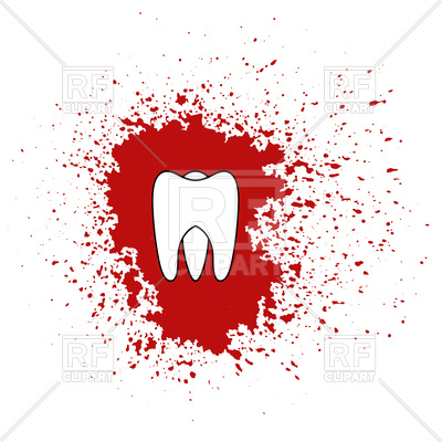 400x400 Bloody Tooth Icon Vector Image Vector Artwork Of Healthcare