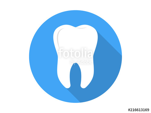 500x375 Tooth Icon Flat Vector Stock Image And Royalty Free Vector Files