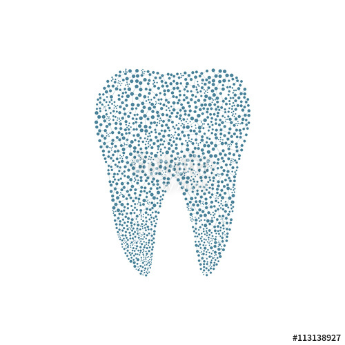 500x500 Tooth Logo. Medical Design. Dentist Office Icon. Vector