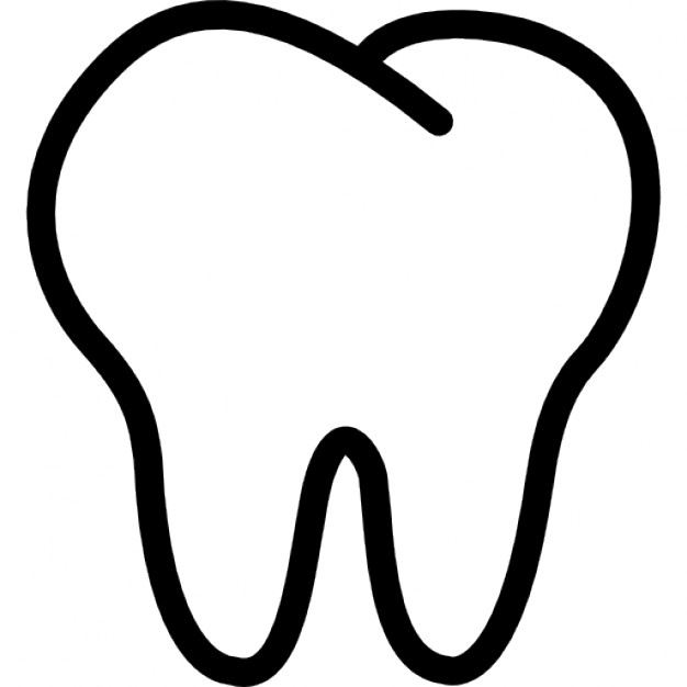 626x626 Tooth Outline Icons Free Download