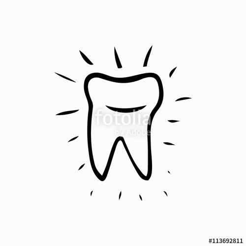 500x500 Tooth. Icon Vector Silhouette. Health, Medical Or Doctor And