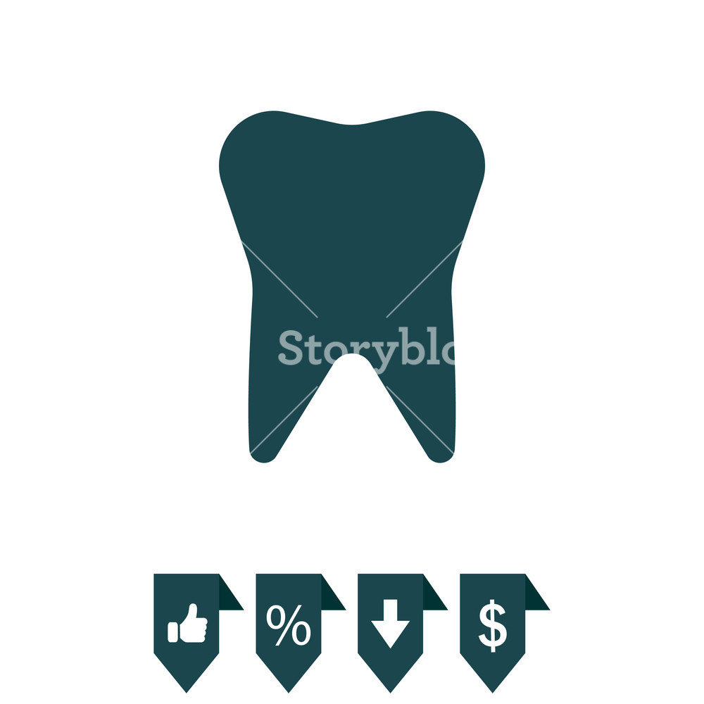 1000x1000 Tooth Icon. Vector Illustration Royalty Free Stock Image