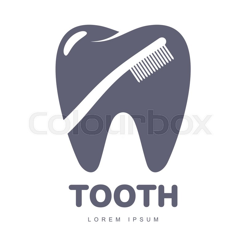 800x800 Graphic, Black And White Tooth, Dental Care Logo Template With