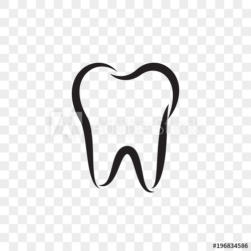 500x500 Tooth Logo Icon For Dentist Or Stomatology Dental Care Design