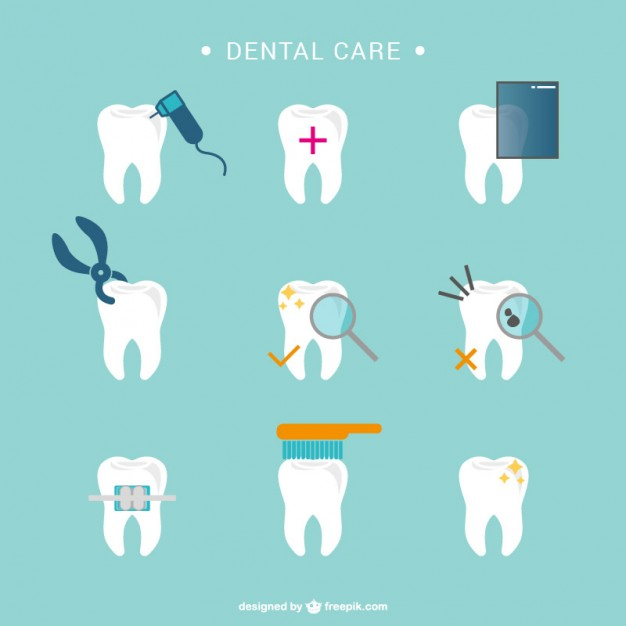 626x626 Dental Care Tooth Icons Vector Free Download