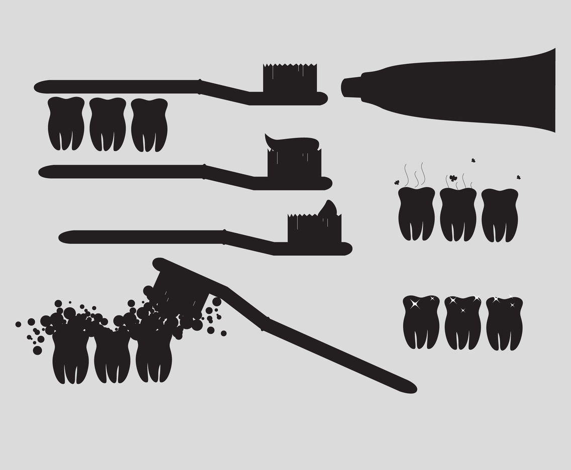 1136x936 Silhouette Toothpaste, Toothbrush And Teeth Vector Art Amp Graphics