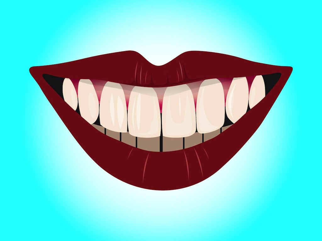1024x768 Smile With Teeth Vector Art Amp Graphics