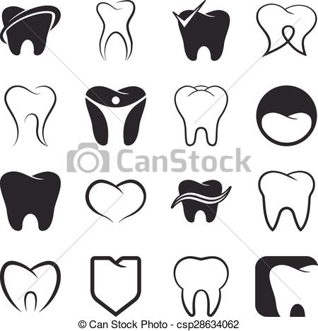 450x468 Tooth , Teeth Vector Icons Set. Tooth , Teeth Vector Black Icons