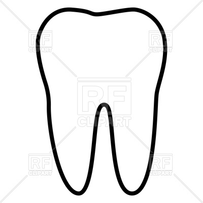 400x400 Tooth Outline Icon Vector Image Vector Artwork Of Healthcare
