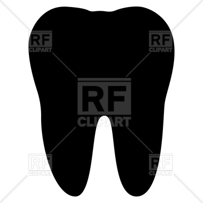 400x400 Tooth Silhouette Vector Image Vector Artwork Of Objects