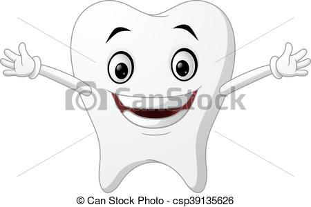 450x300 Vector Of Illustration Cute Cartoon Tooth.