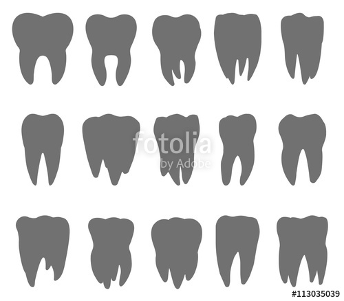500x438 Silhouette Of The Teeth, Tooth Icon, Dental Icons, Teeth Signs