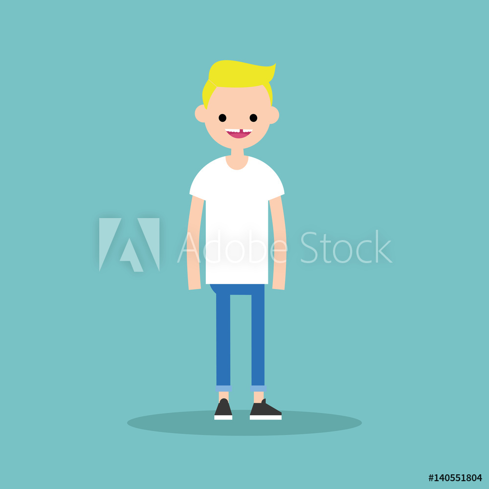 1000x1000 Photo Amp Art Print Young Funny Toothless Blond Boy Standing And