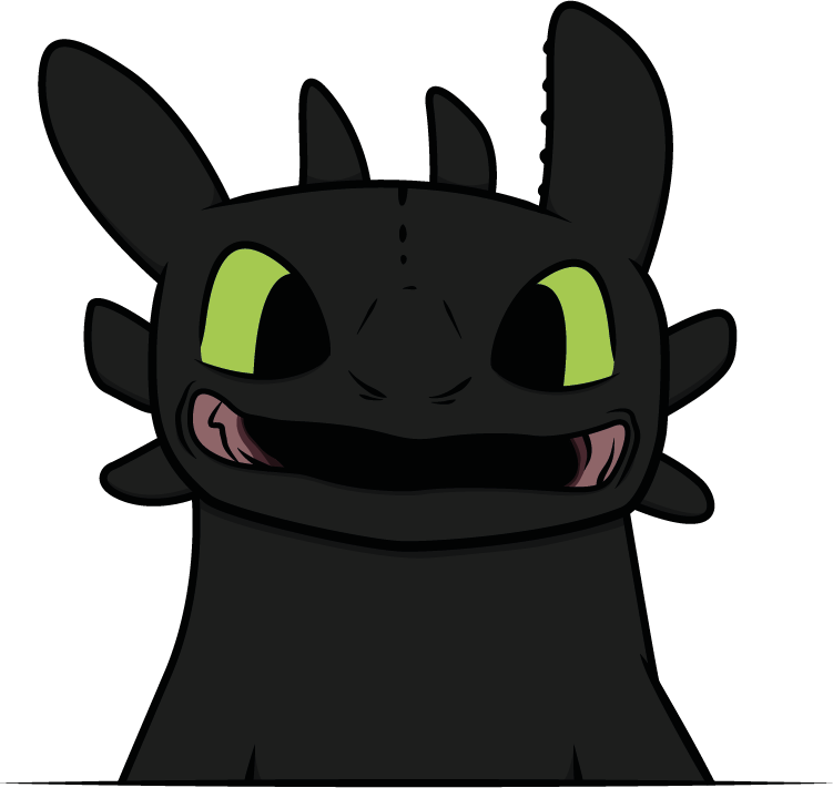751x711 Smiling Toothless By Kachiwho