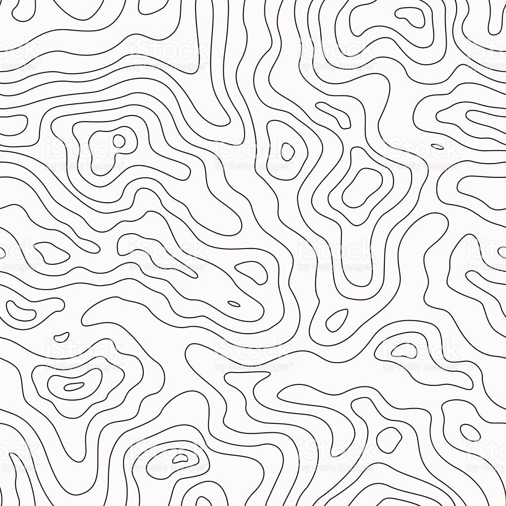 1024x1024 Topographic Map Seamless Pattern. Vector Background In 2018