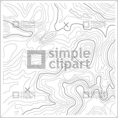 400x400 Topographic Map Vector Image