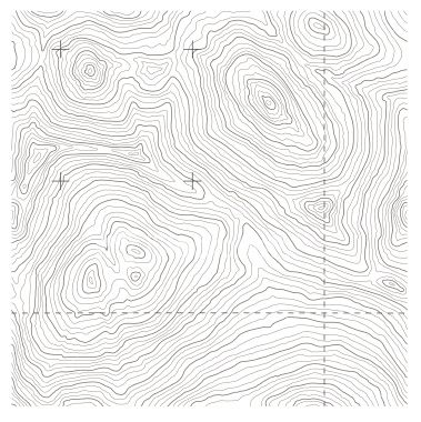 379x380 Big Seamless Topography Tile Vector. Depicts Rugged Mountainous