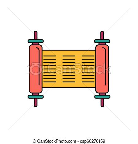 450x470 Torah Icon, Cartoon Style. Torah Icon. Cartoon Torah Vector Icon