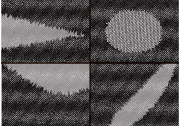 700x490 Free Torn Black Jeans Fabric Vector