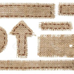 300x300 Photoburlap Fabric Tag Label Rustic Hessian Cloth Patch Ribbon