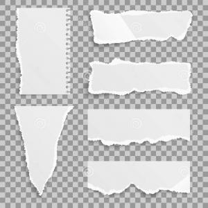 300x300 Stock Illustration Blank Torn Paper Bends Tears Vector Set Ripped