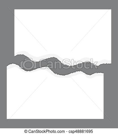 416x470 Torn Edge, Ripped Paper Vector Symbol Icon Design.