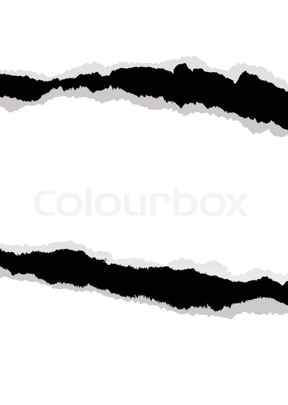 569x800 White Paper Background With Edge Torn And Rip Ideal Template