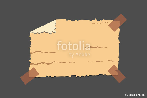 500x334 Old Torn Paper With Ragged Edge. Vintage Note Papers Vector