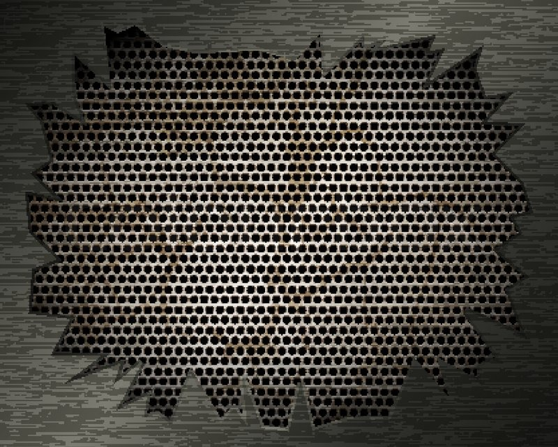 800x640 Metal Background With Grill And Torn Metal Stock Vector Colourbox