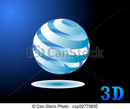 450x378 Sphere Abstract Tornado Vector Logo Design Template.