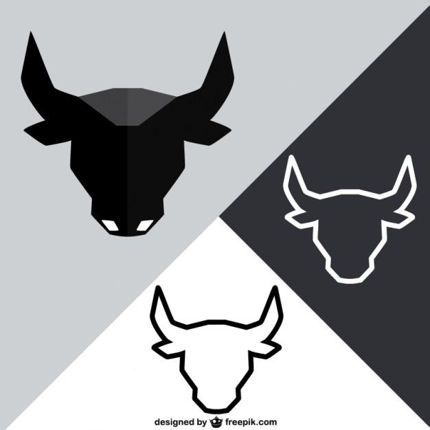 626x626 Polygonal Bull Head Vector Free Download