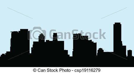 450x245 Uptown Toronto Skyline. Skyline Silhouette Of The Buildings