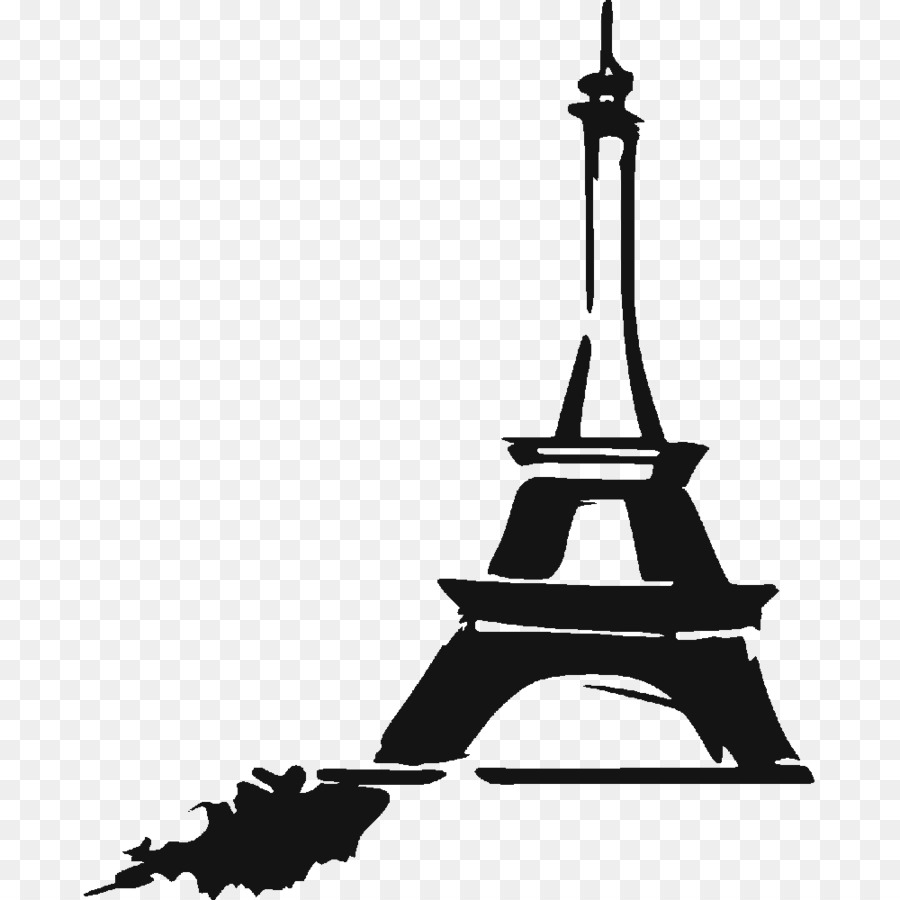900x900 Eiffel Tower Drawing Silhouette Clip Art